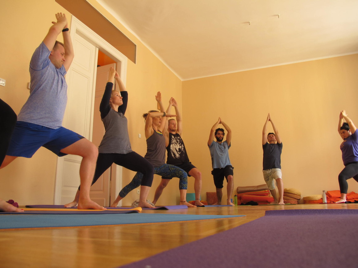 Urban yoga retreat in Budapest