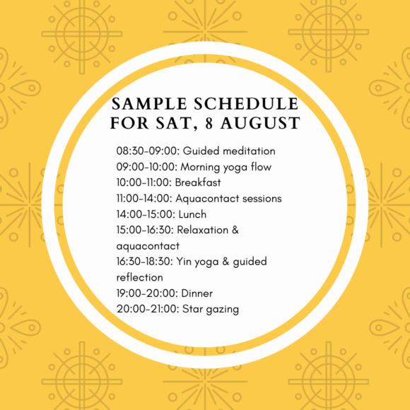 summer yoga schedule