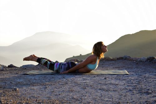 Locust pose to strengthen the back